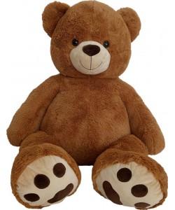 Mac Toys Medvěd plyšový 135 cm - čokoládový