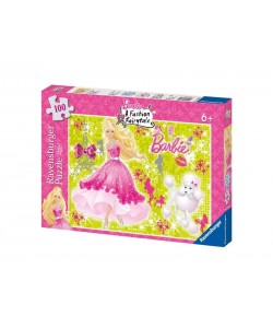 Puzzle Ravensburger Barbie 100 XXL d. se třpytkami
