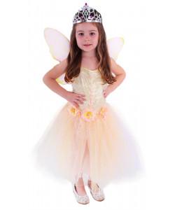 Karnevalový kostým Víla květinka s křídly, vel. M