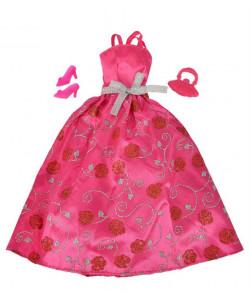 Šaty pro panenku Steffi Romantic World - malinové