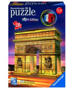 Puzzle 3D Vítězný oblouk ( Noční edice ) 216 dílků