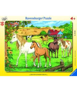 Ravensburger Puzzle deskové Koně 30-48d.