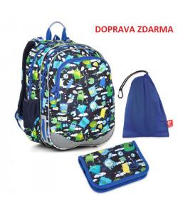 Školní batoh Topgal ELLY 18002 B SET MEDIUM