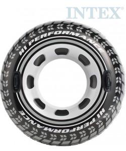 INTEX Nafukovací kruh pneumatika s úchyty 114 cm