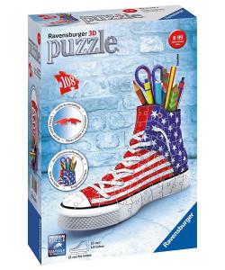 Puzzle 3D Kecka - vlajkový design 108 dílků