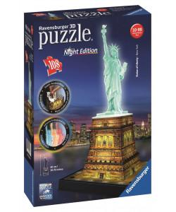 Puzzle 3D Socha Svobody (Noční edice) 108d