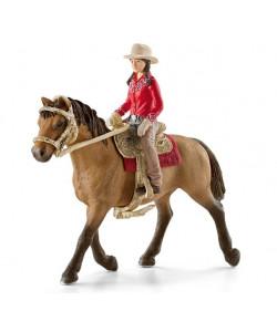 Schleich Westernová jezdkyně na koni