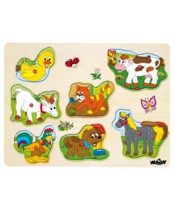 Woody Muzikální puzzle Domácí zvířata