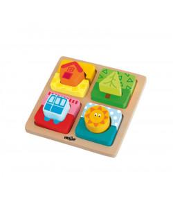 Woody Destička s puzzle-tvary Slunce domova