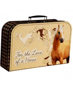 Kazeto Dětský kufřík Kůň béžový velký 35 cm