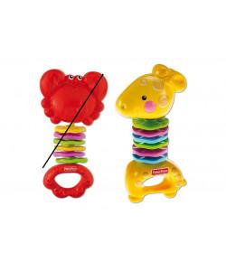 Mattel - Fisher Price chrastítko Žirafa a krab
