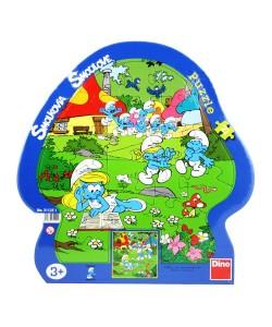Dino Šmoulové letní tvarové puzzle 21d