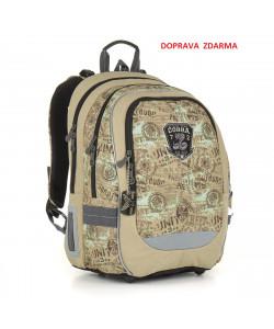 Školní batoh Topgal CHI 872 K Brown DOPRAVA ZDARMA