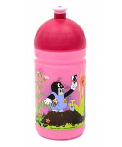 Zdravá lahev Krtek a kalhotky 0,5l - růžová