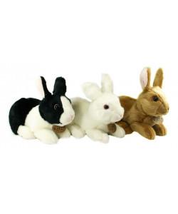 Rappa Plyšový králík ležící, 3 druhy, 23 cm