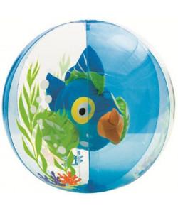INTEX Nafukovací míč s rybou uvnitř 61 cm- modrá