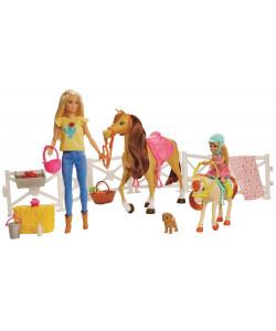 Mattel Barbie Herní set s koníky