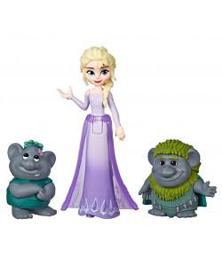 Frozen 2 Mini Figurky kamarádi - Elsa a trollové