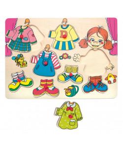 """Woody Puzzle Oblékání na desce """"Carolina"""""""