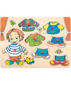 """Woody Puzzle Oblékání na desce """"Sebastian"""""""