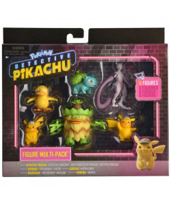 Pokémon figurky detektiv Pikachu multipack -6-Pack
