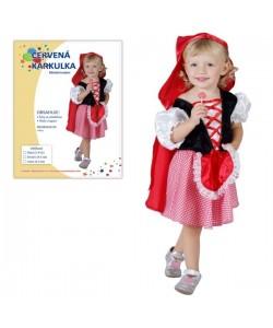 Kostým dětský Karkulka 3-4 roky