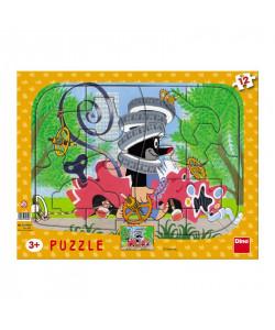 Dino Puzzle deskové Krtek opravář 12 dílků