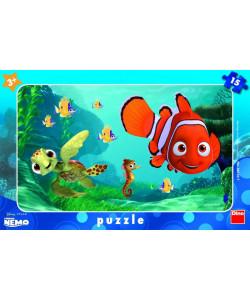 Dino Puzzle deskové WD Nemo a želva 15 dílků