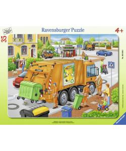 Ravensburger Puzzle deskové Odvoz odpadu 35 dílků