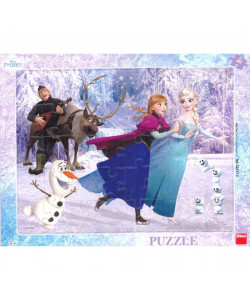 Dino Puzzle deskové Frozen na bruslích 40 dílků