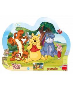 Dino Puzzle Schovávaná s medvídkem Pú 25 dílků