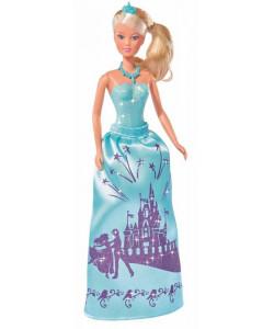 Simba Panenka Steffi Princezna třpytivé šaty modré