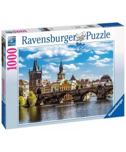 Puzzle Praha: Pohled na Karlův most 1000 dílků
