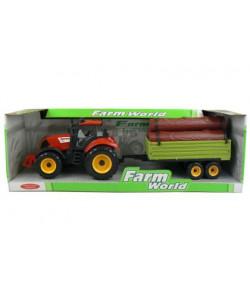 Mac Toys Traktor s valníkem a dřevem
