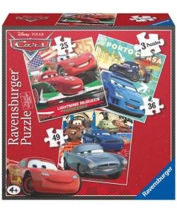Puzzle Ravensburger Cars 3v1