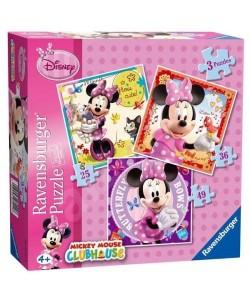 Puzzle Ravensburger Minnie Mouse 3v1
