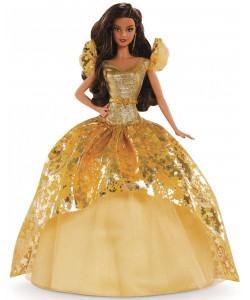Mattel Barbie Vánoční panenka Brunetka