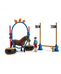 Schleich Závod v agility pro poníky