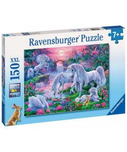 Puzzle Jednorožci při západu slunce,150 dílků