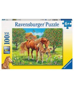 Ravensburger Puzzle Koně na pastvině 100 XXL dílků