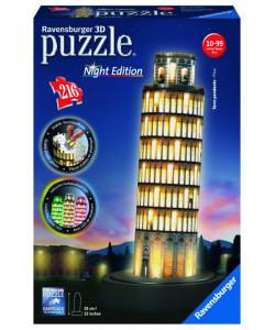 Puzzle Šikmá věž v Pise (Noční edice) 216 dílků 3D