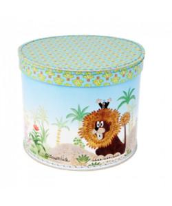 Kazeto Krabice kulatá 25cm Krtek a lev