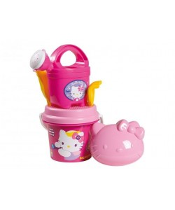 Sada na písek Hello Kitty s konvičkou - růžový