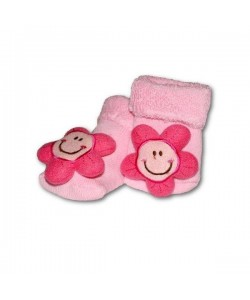 Ponožky kojenecké s chrastítkem vel.74 (6-12m) sluníčka