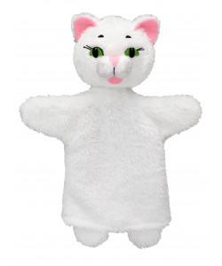 MÚ Brno Kočička bílá 26cm, maňásek