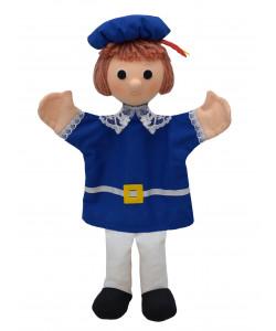 MÚ Brno Princ Marian 33cm modrý, maňásek
