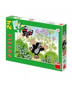 DINO Puzzle Krteček na bruslích 24 dílků