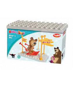 PlayBIG Stavebnice Máša a medvěd Na lyžích