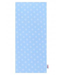 Flanelová plena s potiskem New Baby modrá - 1 ks