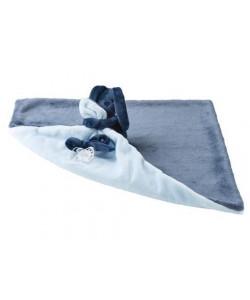 Deka plyšová s mazlíčkem LAPIDOU modrá 48x48cm